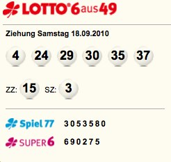 quote lotto am samstag